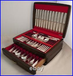 BEAD Design GEORGE BUTLER Sheffield Silver Service 127 Piece Canteen of Cutlery