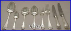 BEAD Design GEORGE BUTLER Sheffield Silver Service 60 Piece Canteen of Cutlery