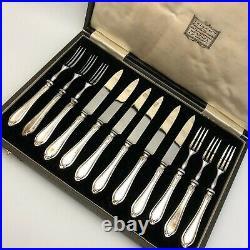 Barker Bros Vintage Sterling Silver Cutlery Cocktail Set 12 Piece 10020 CP