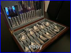 Bead Design 58 Piece EPNS A1 Silver Plated Canteen of Cutlery