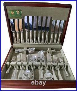 Bead Design ARTHUR PRICE Silver Service 58 Piece Canteen of Cutlery