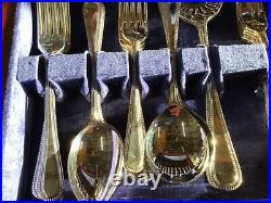 Bead Edge Design OSBORNE Sheffield Silver Service 56 Piece Canteen of Cutlery