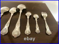 Beautiful 113 Piece Canteen Of Kings Pattern Double Struck Cutlery For 12 People