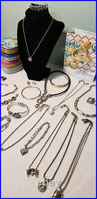 Brighton jewelry Lot Necklaces Bracelets & Earrings and Tins 28 pieces