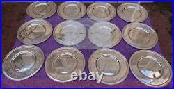 CHRISTOFLE ALBI UNDERPLATES / PRESENTATION PLATES TOTAL 12 pieces