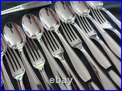 CHRISTOFLE ATLAS Antique 37 pieces Complete set for 12 people Table Flatware