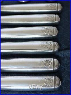 CHRISTOFLE Antique MALMAISON RARE Table set 12 Place settings 36 pieces Empire