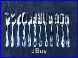CHRISTOFLE BERAIN MAROT COQUILLES 12 places setting 74 pieces table set brillant
