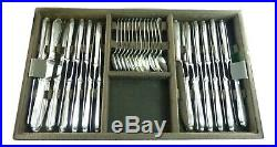 CHRISTOFLE Cutlery POMPADOUR Silver Plate 156 Piece Canteen Set for 12