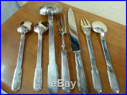 CHRISTOFLE LAOS 12 PLACE SETTINGS 118 pieces TABLE SET WITH BOX brillant