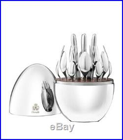 CHRISTOFLE MOOD SILVER PLATE 25-PIECE SET With EGG CAPSULE BRAND NEW