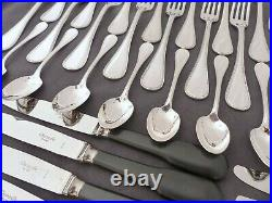 CHRISTOFLE PERLES Table set 12 Place settings 60 pieces Silverplated MINT