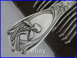 C/o CHRISTOFLE FOR MAXIM'S FLATWARE 37 pieces ORCHIDEE brillant luster