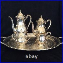 Camiille (Silverplate, Hollowware) by International Silver 5 Piece TEA set WithTray