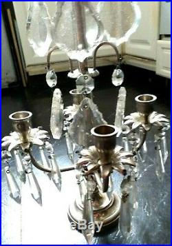 Candle Display Large Centre Piece With Crystal Droplets Lovely