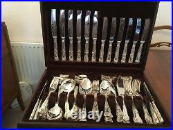 Canteen of silver plated cutlery 102 pieces Francis Greaves & Sons Sheffield
