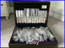 Carrs of Sheffield 124 piece silver cutlery set, brand new with valuation
