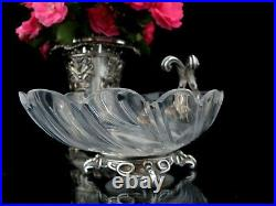 Christofle Antique Center Piece Crystal Shell