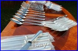 Christofle Berain Coquile Silver Plated 36 Pieces Set in Six setting