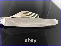 Christofle France 40 Piece Rubans Silverplate Set Service for 8