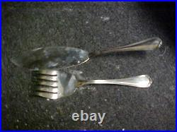 Christofle Silverplate SPATOURS 2 Piece Fish Serving Set