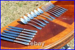 Christofle Spatours Silver Plated 18 Pieces Flatware Set for Six