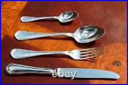 Christofle Spatours Silver Plated 24 Pieces Flatware Set for Six