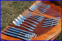 Christofle Spatours Silver Plated 24 Pieces Flatware Set in Four Settings
