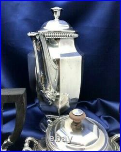 Christofle et Gallia Service thé café 4 pièces Art Déco France silver plated