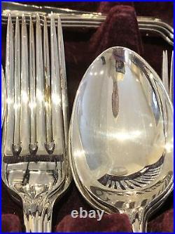 DUBARRY By INKERMAN SHEFFIELD Silver Service 44 Piece Canteen of Cutlery EPNS A1