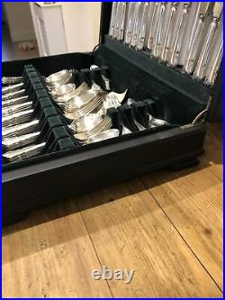DUBARRY Design GEORGE BUTLER KITEMARK Silver Service 92 Piece Canteen of Cutlery