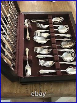 DUBARRY Design SHEFFIELD ENGLAND CROWN Silver Service 50 Piece Canteen Cutlery