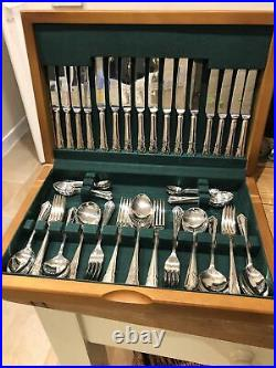 DUBARRY SLACK & BARLOW SHEFFIELD Silver Service 68 Piece Canteen of Cutlery EPNS