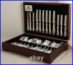 ENGLISH THREAD Design Arthur Price Silver Service 84 Piece Canteen of Cutlery