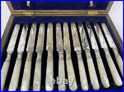 EPNS Silver Plate 24 Piece Canteen of Cutlery Mother Of Pearl
