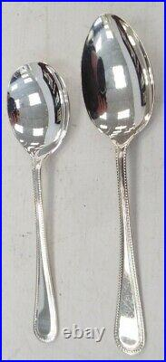 EPNS Silver Plated Cutlery 109 Piece Service For 12 With Wooden Canteen N35