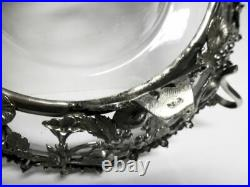 Edle antike Henkelschale-versilbert/noble antique silver plated centerpiece-bowl