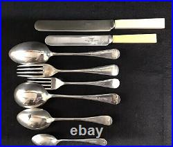 Edwardian Oak Cased 48 Piece Silver Plated Canteen Of Cutlery James Dixon&Sons