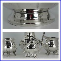 Elegant Vintage Silverplate Tea Set 5 Pieces