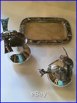 Emilia Los Castillo Private Piece Neiman Marcus Hummingbirds Cream & Sugar Plate