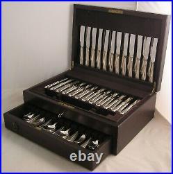 FEATHER EDGE Design HARRODS LONDON Silver Service 124 Piece Canteen of Cutlery