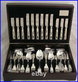 FIDDLE THREAD & SHELL By JOHN OSBORNE Silver Service 84 Piece Canteen of Cutlery