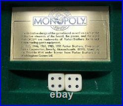 FRANKLIN MINT DE-LUXE MONOPOLY SET Gold & Silver plated pieces