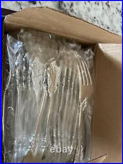 F. B. Rogers French Roses Plated 85 Piece Flatware Set For 16 People. Brand New