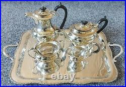 Five Piece Silver Plated Georgian Tea Coffee Service Tray