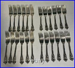 GODINGER 18/10 Silver Plated 20Th Century Baroque 65 Piece Flatware Set