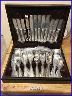 GRECIAN Design ARTHUR PRICE 44 Piece Sheffield Silver Service Canteen of Cutlery