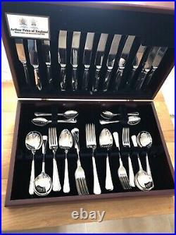 GRECIAN Design ARTHUR PRICE Sovereign 8 Place 56 Piece Canteen of Cutlery