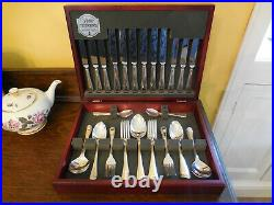 George Butler of Sheffield 44 Piece Siver Plated Canteen of Cuttlery Bead Patter