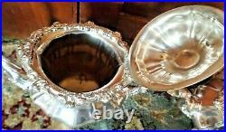 Gorham Silverplate 4 Piece Coffee Tea Set Excellent Vintage Condition Rose